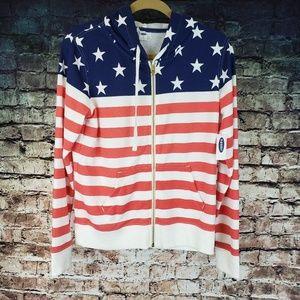 Old Navy Stars & Stripes Hoodie NWT